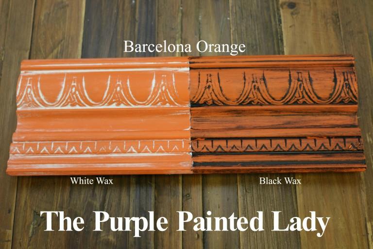 Barcelona Orange Chalk Paint 174 Quart