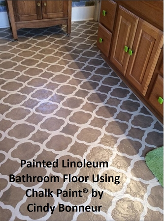 Annie sloan lacquer for Painting linoleum floors