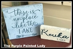 Lake Sign Set of TWO Painting Workshop in Village Gate  Thursday, June 21, 2018 at 6pm