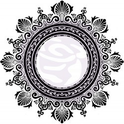"Iron Orchid Design Decor Transfer: Medallion A (12""x12"")"