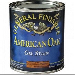 GEL STAIN AMERICAN OAK 1/2 PINT (AMERICAN OAK GENERAL FINISHES)