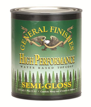 General Finishes SEMI-GLOSS High Performance Polyurethane Water Based Top Coat- QUART