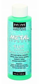 MODERN MASTERS 4 OZ BLUE PATINA AGING SOLUTION FOR COPPER - STEP 3B