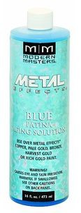 MODERN MASTERS 16 OZ BLUE PATINA AGING SOLUTION FOR COPPER - STEP 3B