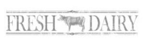 "IRON ORCHID DESIGN DECOR TRANSFER: FRESH DAIRY (50"" X 12"") CHARCOAL"
