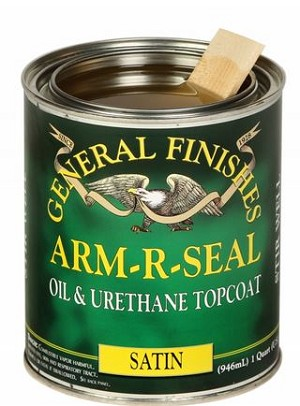 Oil Based Arm-R-Seal Urethane Topcoat SATIN-  QUART