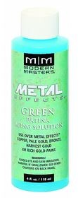 MODERN MASTERS 4OZ GREEN PATINA AGING SOLUTION FOR COPPER - STEP 3A
