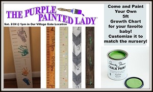"""Paint a Growth Chart"" Workshop in Village Gate Saturday, Feb. 24, 2018 AT 1PM"