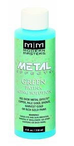 MODERN MASTERS 16 OZ GREEN PATINA AGING SOLUTION FOR COPPER - STEP 3A