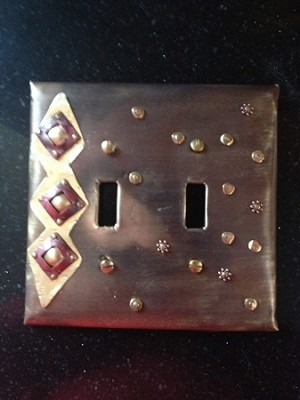 Snowfall Double Electrical Switch Cover