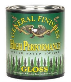 General Finishes GLOSS High Performance Polyurethane Water Based Top Coat in GLOSS- Pint