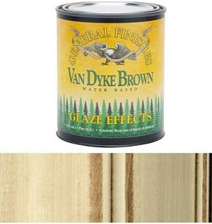General Finishes, Van Dyke Brown Glaze, Pint