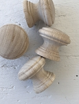 Set of Four Wooden Knobs (1.5