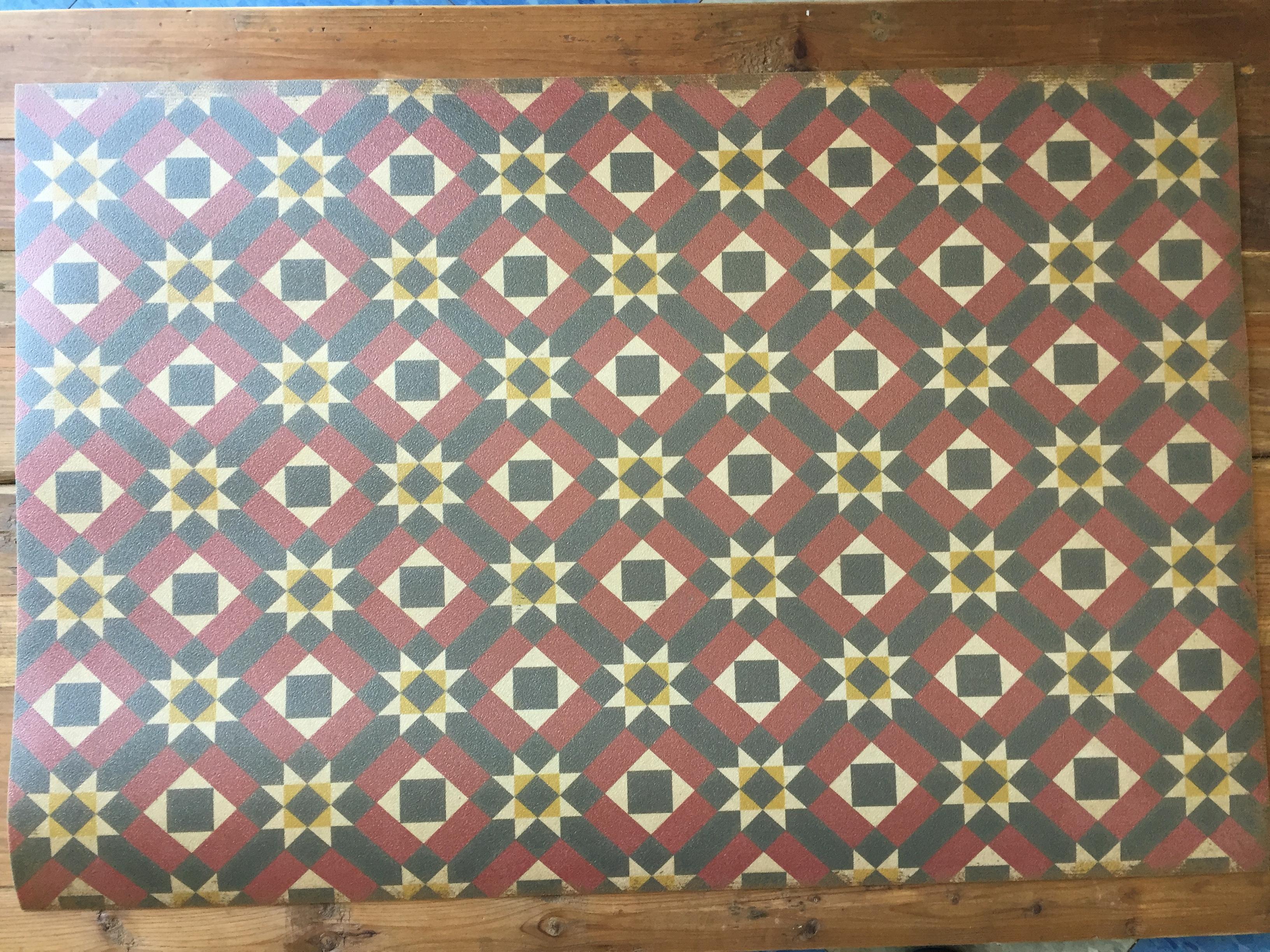 Vintage Vinyl Floor Mat 1