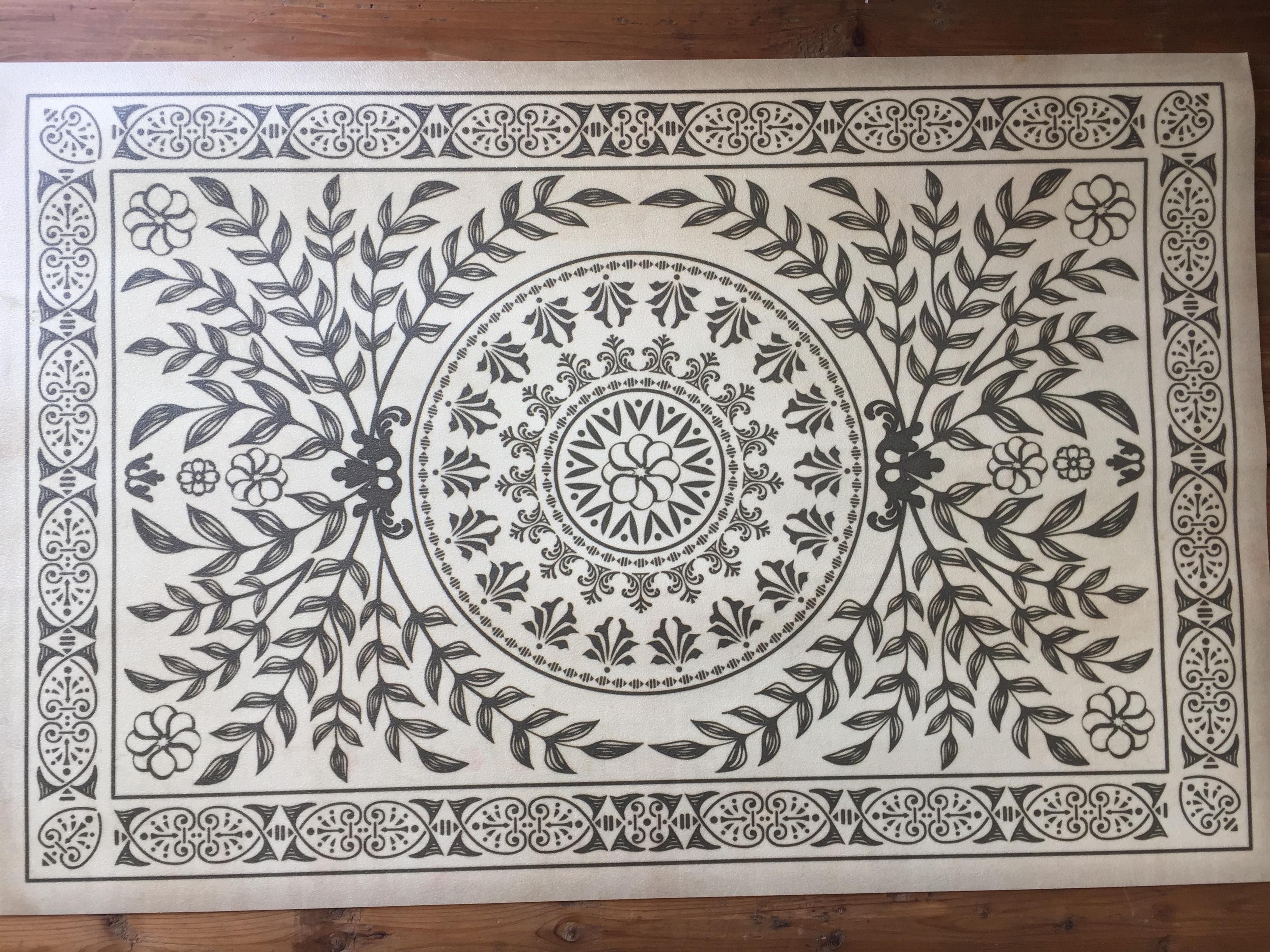 vintage vinyl floor mat #2