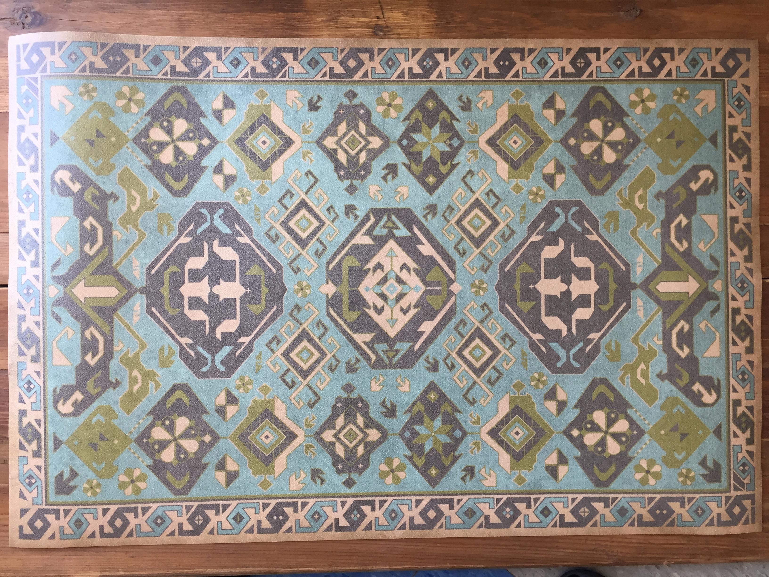 Vintage Vinyl Floor Mat 21