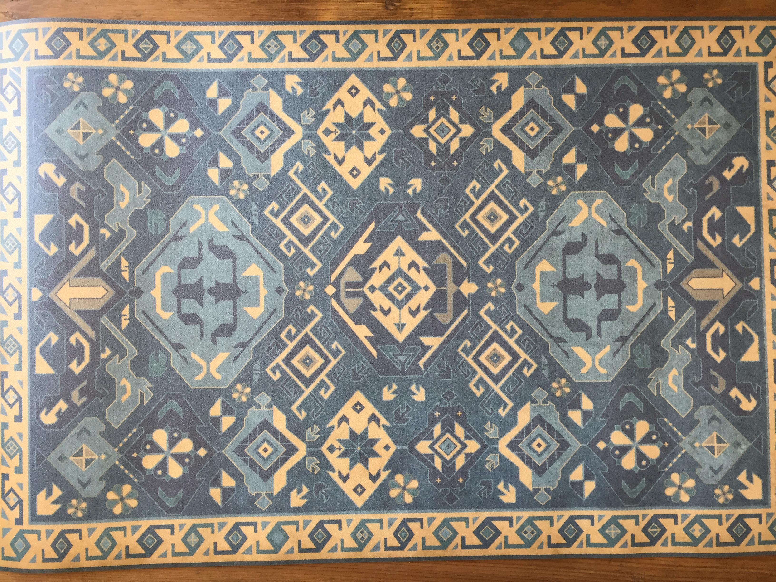 Vintage Vinyl Floor Mat 22