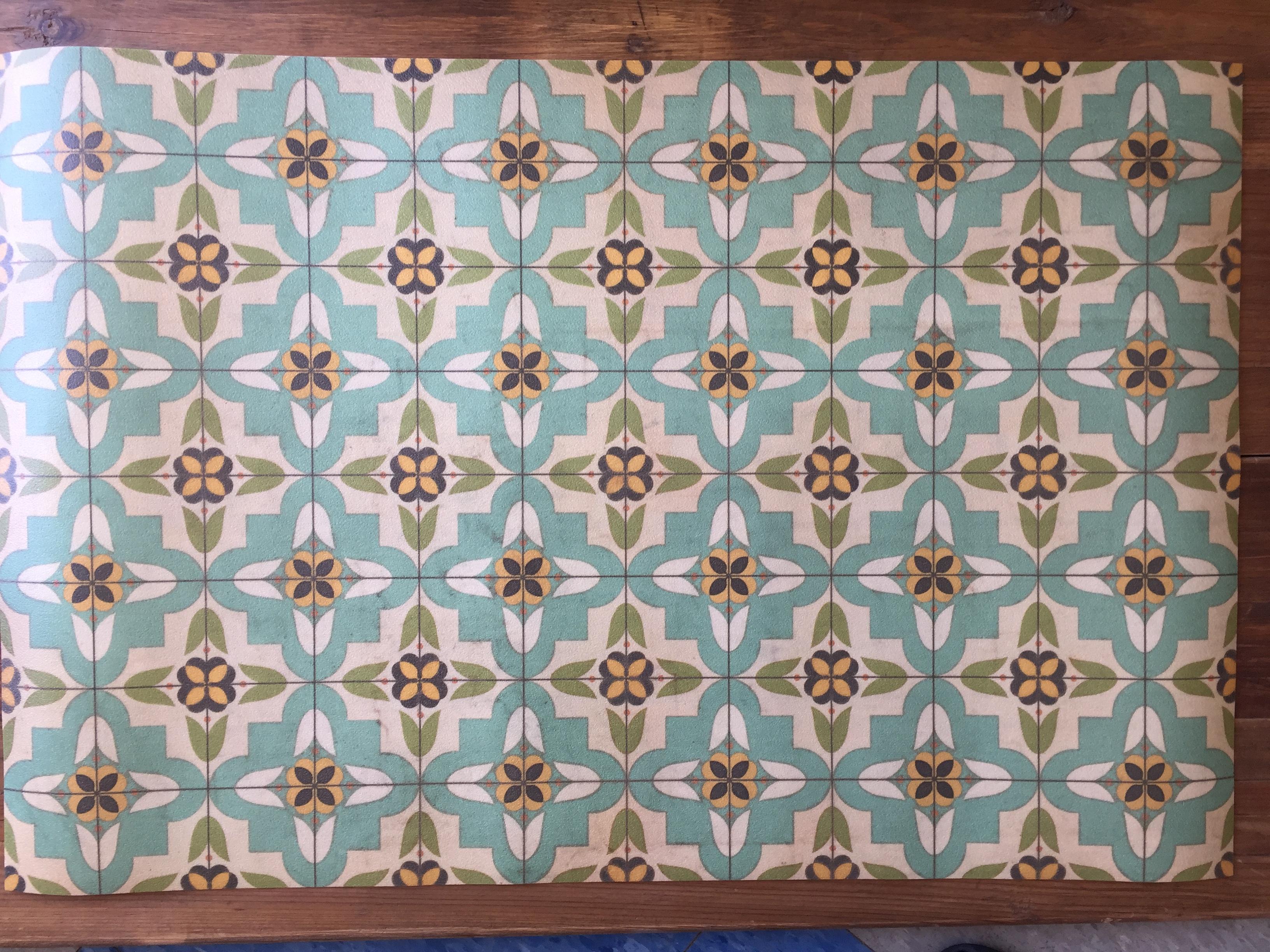 Vinyl Floor Mats >> Vintage Vinyl Floor Mat 27