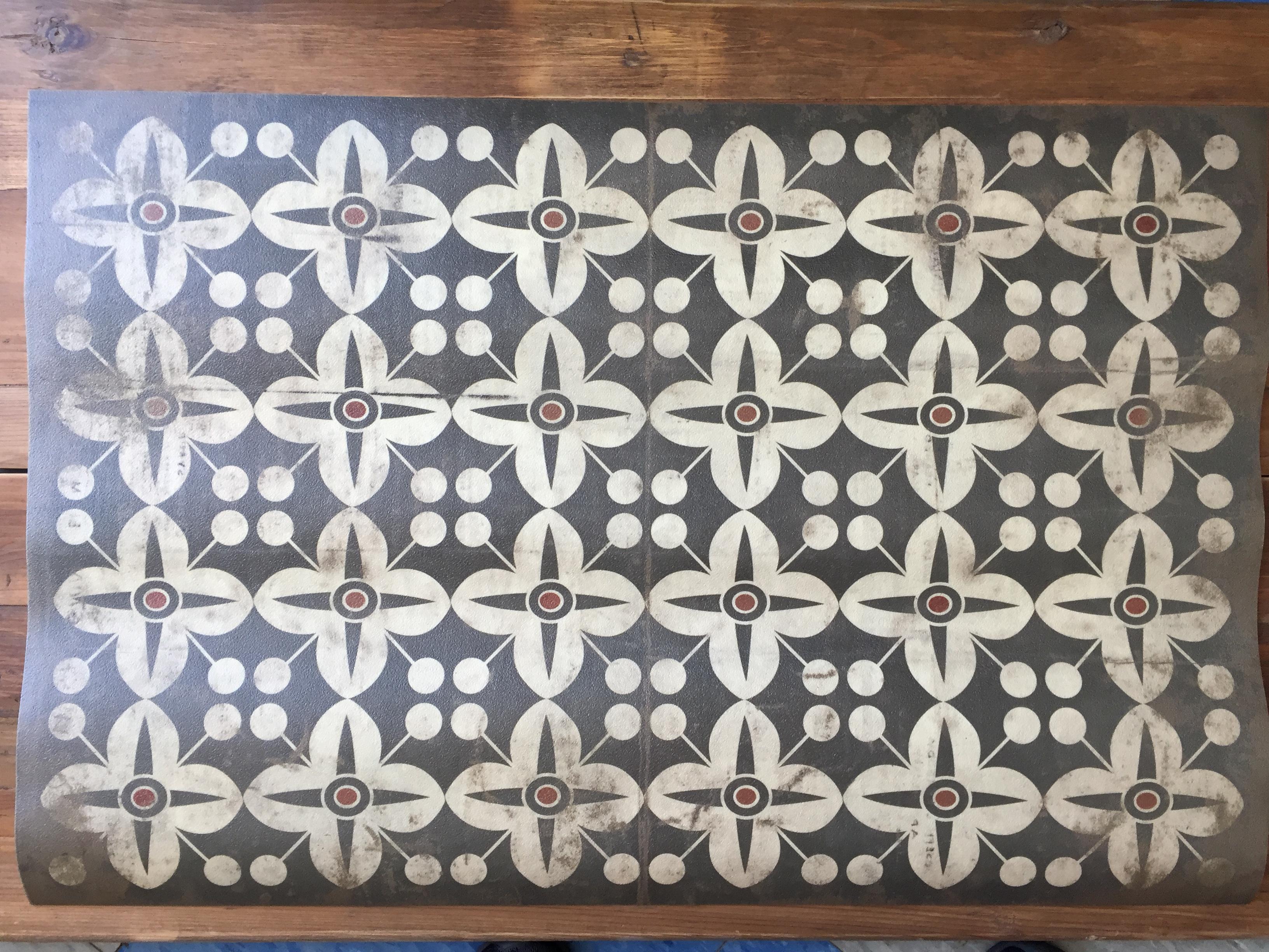 Vintage Vinyl Floor Mat 32