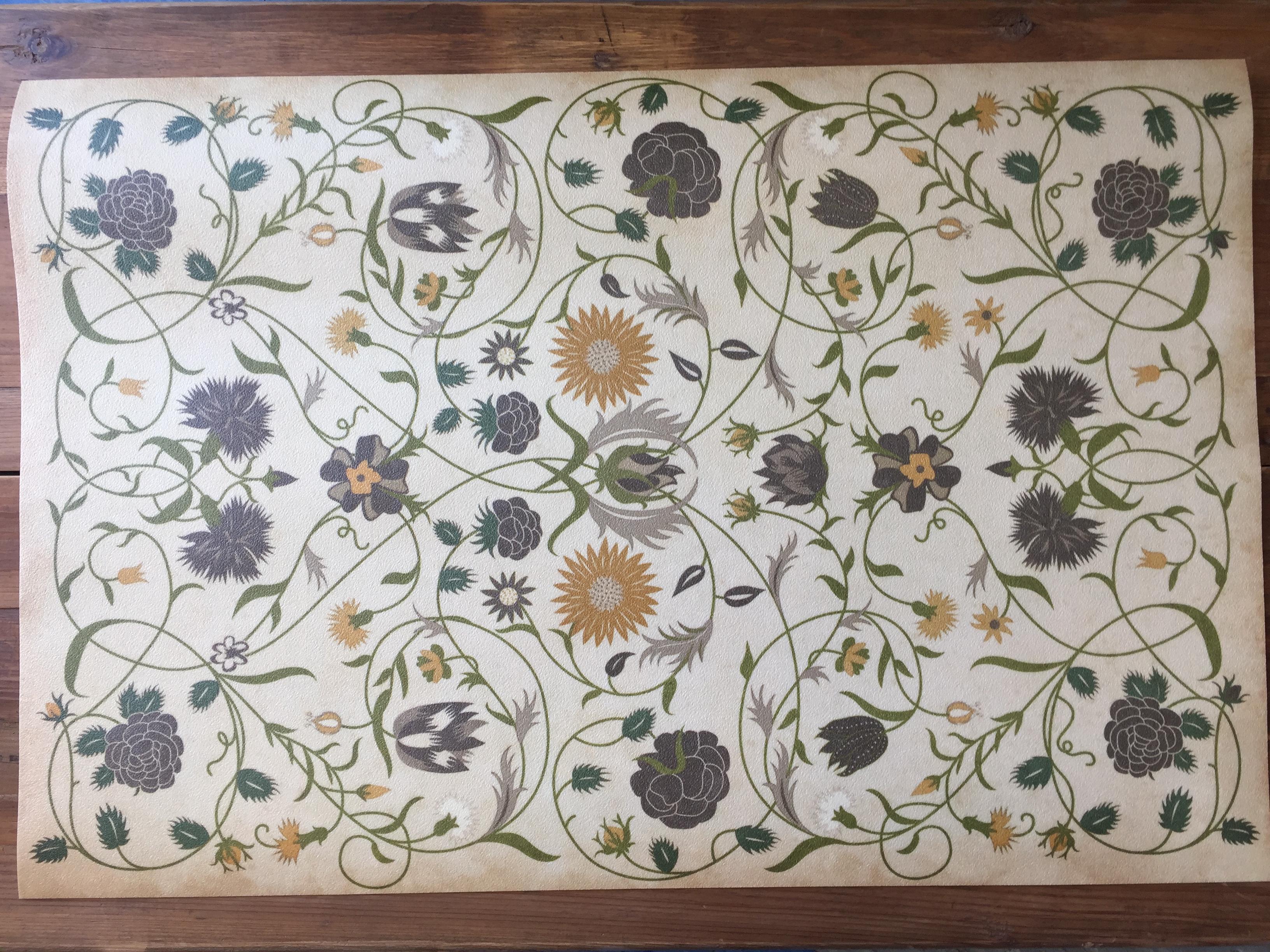 vintage vinyl floor mat #34