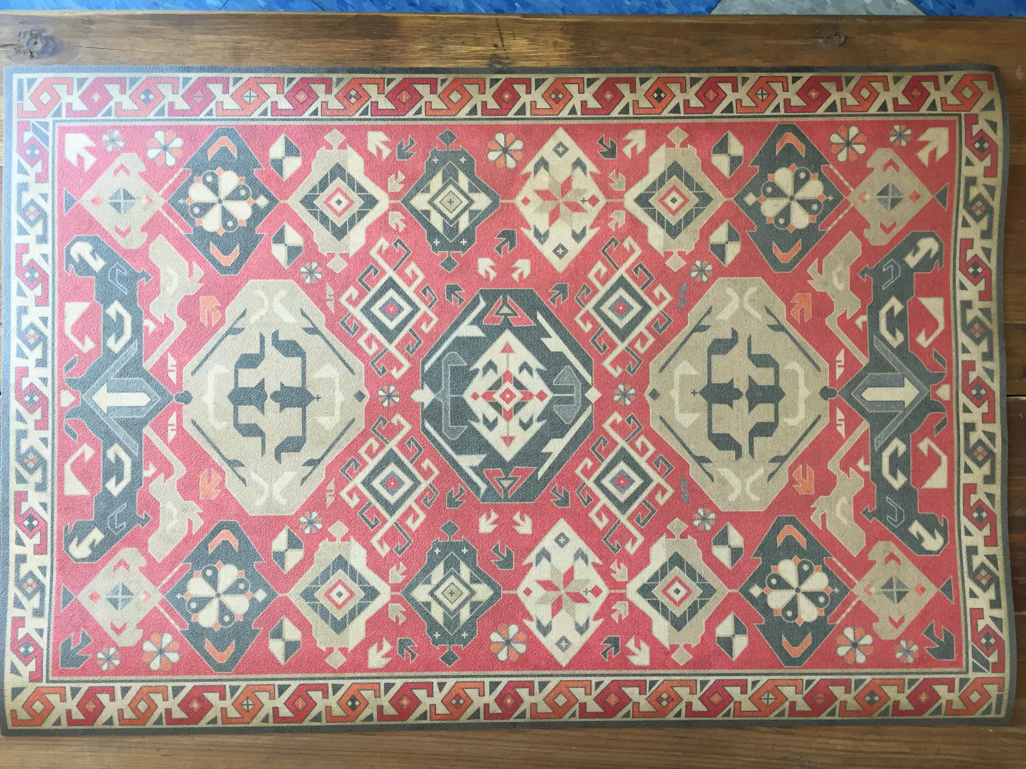 Vintage Vinyl Floor Mat 35