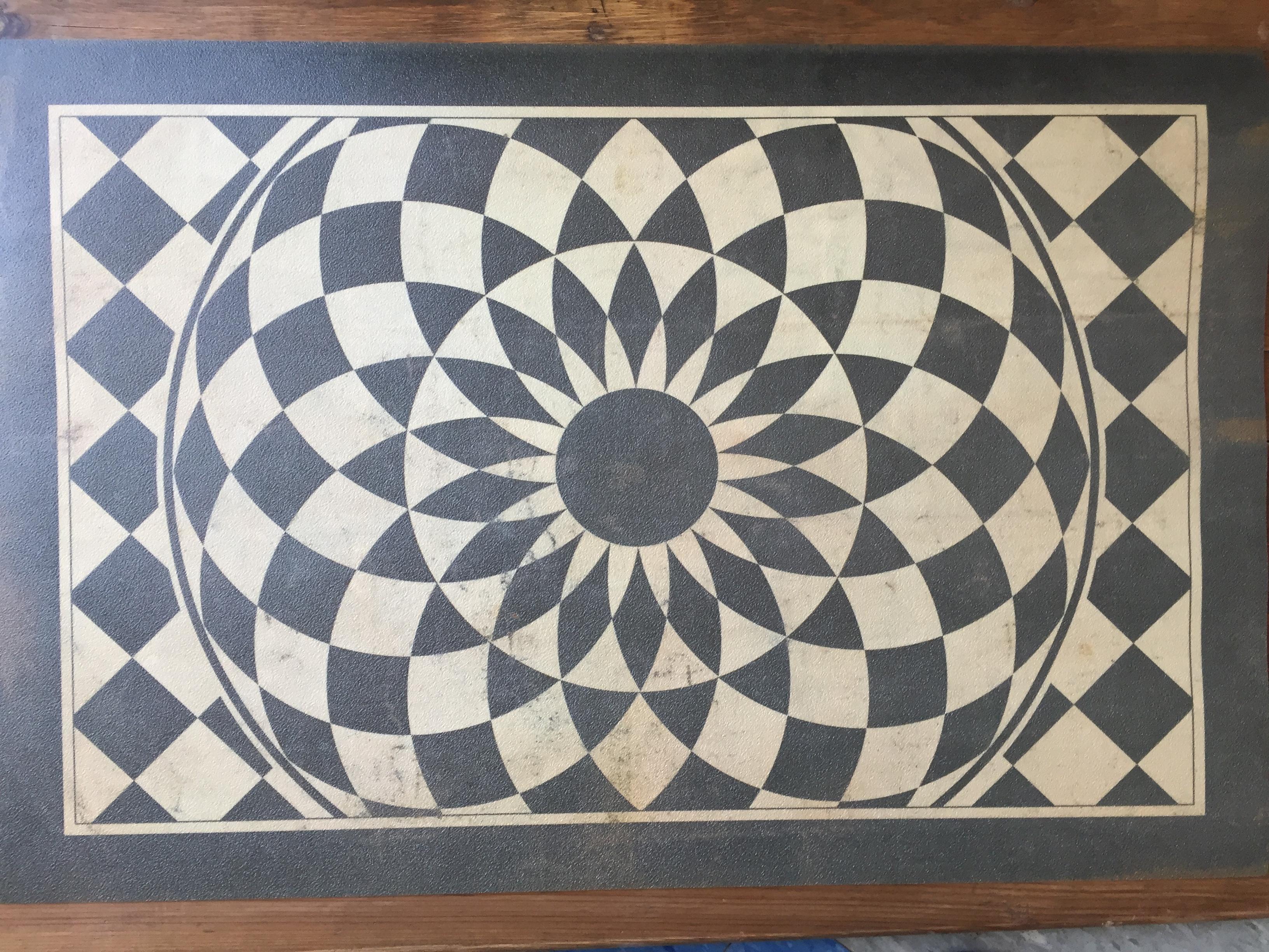Vinyl Floor Mats >> Vintage Vinyl Floor Mat 37