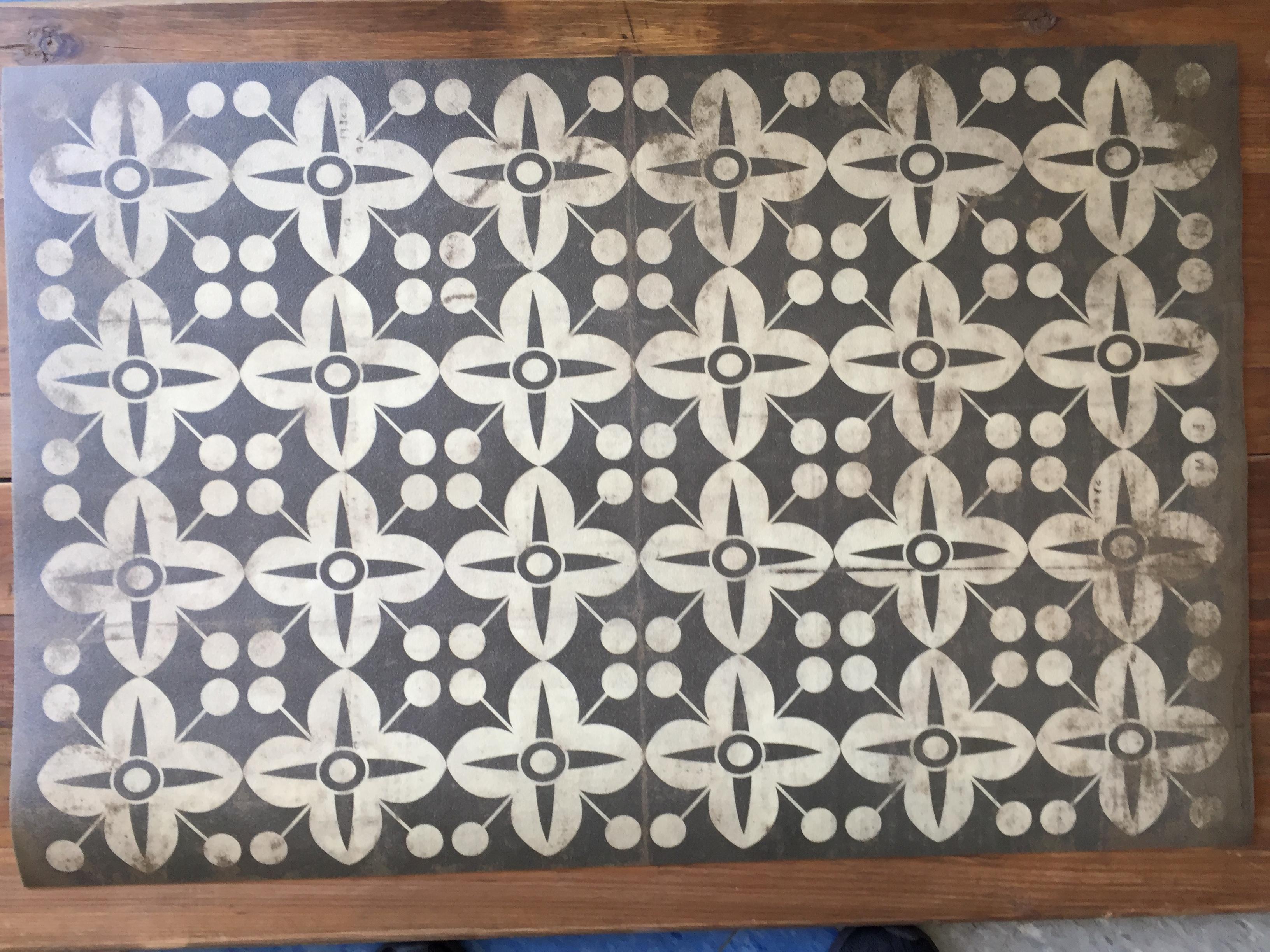Vinyl Floor Mats >> Vintage Vinyl Floor Mat 40