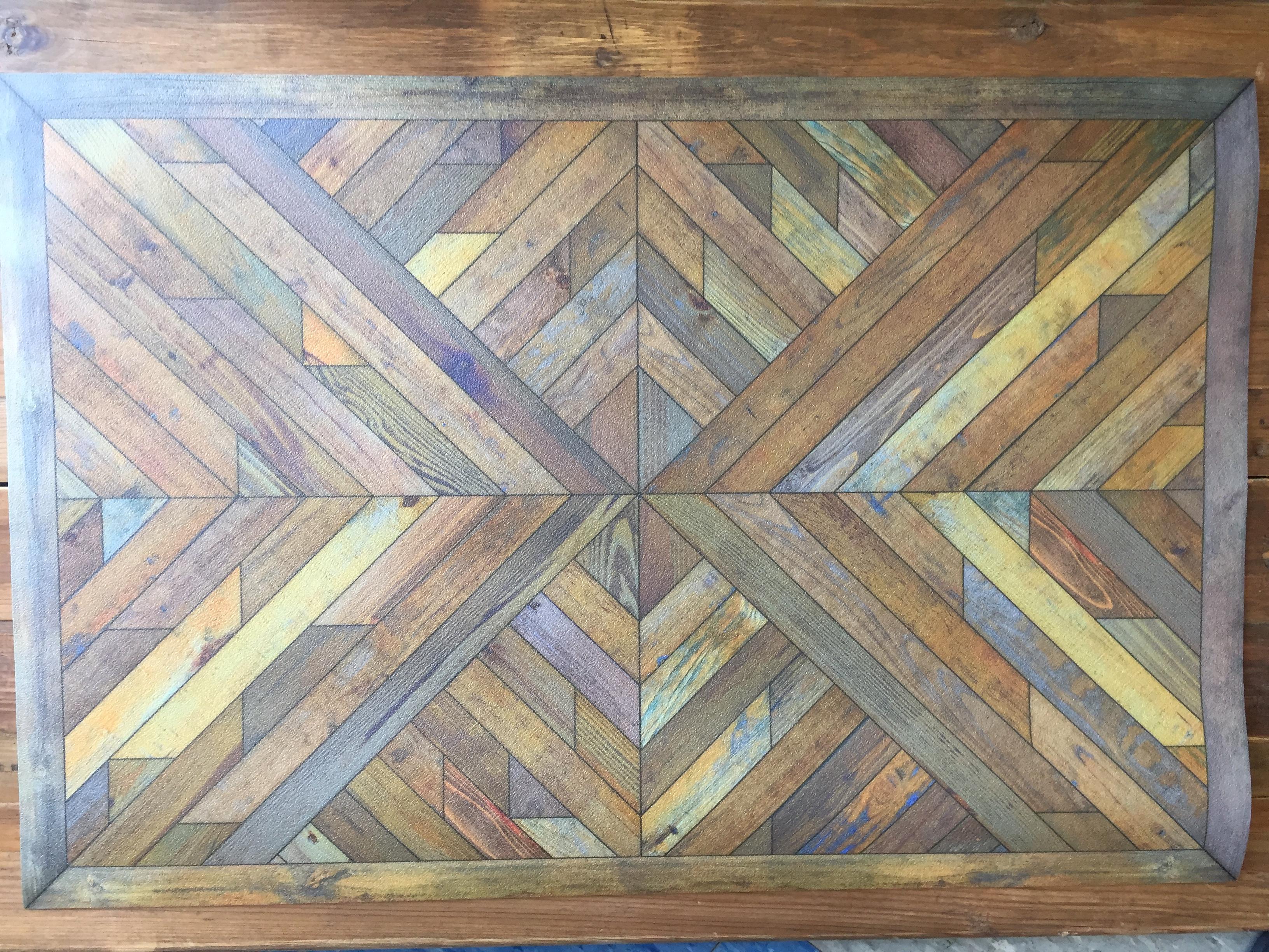 Vintage Vinyl Floor Mat 41