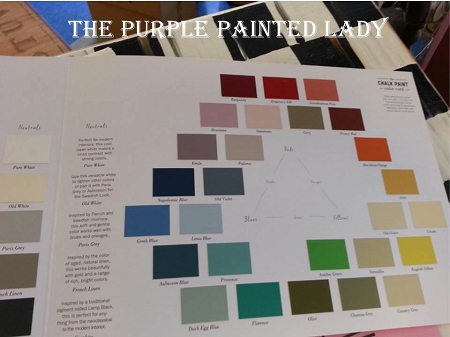 Color Chart Painted Chalk Paint By Annie Sloan