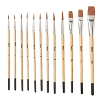 Studio 71 Brown Synthetic Brush Set - 12 PC
