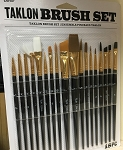 Taklon Brush Set - 18 PC