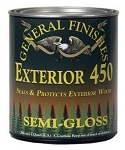 Exterior 450 Water Based Clear- Quart Semi-Gloss