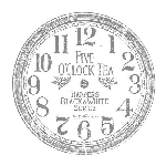Iron Orchid Designs Décor Transfer Clock - 12 in