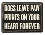 Paw Prints Box Sign