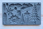Boughs of Holly Decor Moulds (6x10)