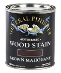 General Finishes Water Based Wood Stain - Brown Mahogany Quart