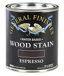 General Finishes Water Based Wood Stain - Espresso Pint