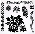 Iron Orchid Designs Décor Clear Stamps - Fleur