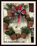Gardener Rusty Bucket Wreath 19