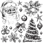 Iron Orchid Designs Holly Jolly Decor Stamps