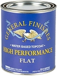General Finishes High Performance Polyurethane Water Based Top Coat in Flat - Pint
