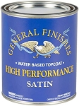 General Finishes High Performance Polyurethane Water Based Top Coat in Satin - Pint