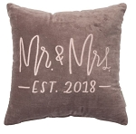 Velvet Pillow - Mr. & Mrs. 2018
