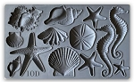 Iron Orchid Designs Sea Shells Decor Moulds (6x10)
