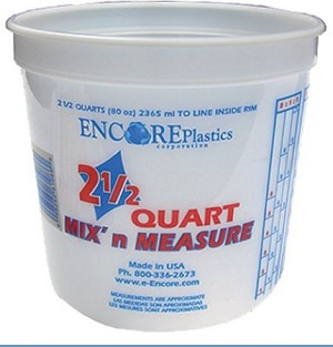 Plastic Paint Mixing Bucket with Lid - 2 5 qt