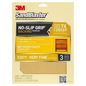 Sandpaper 320 Grit Super Fine - 3 Pack