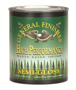 General Finishes High Performance Water Based Top Coat Semi-Gloss Quart