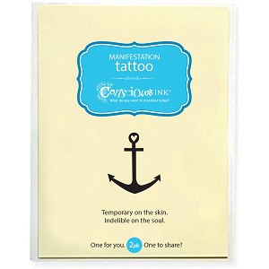 "Anchor Temporary Tattoo (2.5"" x 1.5"") - 2 Pack"