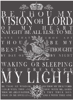 "Be Thou My Vision Decor Transfer - White (11"" X 14"")"