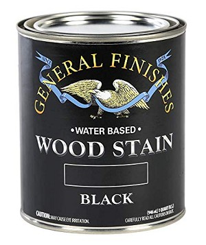 General Finishes Water Based Wood Stain - Black Pint
